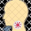 Throat Infection Of Coronavirus Viruses Sore Icon