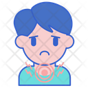 Throat Swelling Irritation Stick Icon