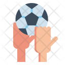Throwing Football Athlete Icon