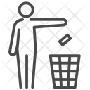 Throw Garbage In Bin Bin Dump Icon