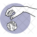 Throw Paper Hand Activities Hand Moments Icon