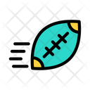 Rugby Throw Ball Icon