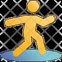 Throwing Javelin Athlete Stick Man Icon