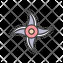 Japanese Ninja Shuriken Icon
