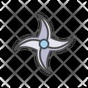 Japanese Shuriken Throwing Star Icon