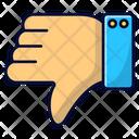 Thumb Down Hand Ui Icon