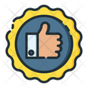 Thumb Up Rating Support Icon