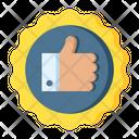 Thumb Up Badge Icon
