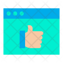 Thumbs Up Support Webpage Support Website Icon