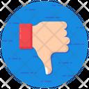 Thumbs Down Dislike Hand Gesture Icon