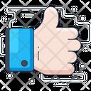 Thumbs Up Appreciation Customer Rating Icon