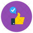 Thumbs Up Feedback Excellent Icon