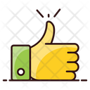 Thumbs Up Like Hand Gesture Icon