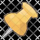 Thumbtack Paper Pin Pushpin Icon