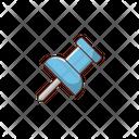 Thumbtack Pushpin Stationary Icon