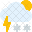 Day Thunder Snow Icon