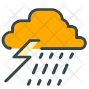 Thunder Storm Cloud Icon