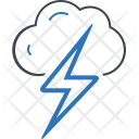 Thunder Cloud Danger Icon