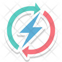 Thunder Power Bolt Icon
