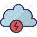 Thunder Flash Sign Lightning Icon