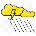 Thunder Storm Raining Icon