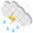 Thunder Natural Disaster Storm Icon