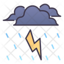 Icloud Lightning Thunder Lightning Atmosphere Icon
