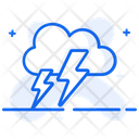 Lighting Storm Thunderstorm Cloudy Weather Icon