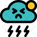 Thunder Sunny Storm Icon