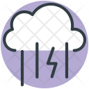 Thunder Stormy Rain Icon