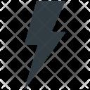 Thunder Flash Sign Icon