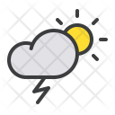 Thunder Lightning Cloud Icon