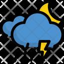 Thunder and raining at night Icon