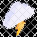Thunder Weather Thunder Cloud Lightning Cloud Icon