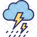 Clouds Thunder Rain Icon