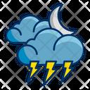 Moon Lightning Thunder Icon