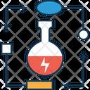 Thunder On Beaker Test Tube Chemical Icon