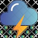 Cloud Thunder Snow Icon