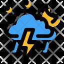 Thunder Storm Night Icon