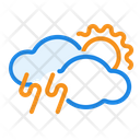 Thunder weather Icon