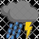Thunder Rain Weather Icon