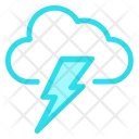 Thunderstorm Cloud Light Icon