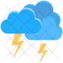 Clouds Lightning Thunderstorm Icon