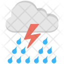 Thunderstorm Rain Rainstorm Icon