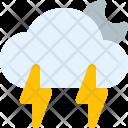Thunderstorm Night Cloud Icon