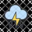 Thunderstorm Heavy Rain Rain Icon