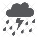 Thunderstorm Rain Weaher Icon