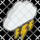 Lighting Shower Thunderstorm Heavy Rain Icon