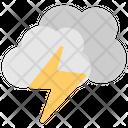 Lightning Clouds Thunderstorm Rain Storm Icon