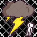 Lighting Shower Thunderstorm Thunder Cloud Icon
